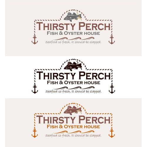 Thirsty Perch Restaurant - logo design