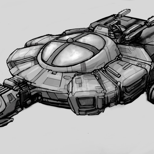 Design the starship Mobius for J.S. Morin's Black Ocean series
