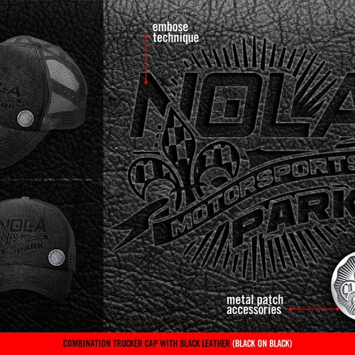 Fitted cap design needed for NOLA Motorsports Park!