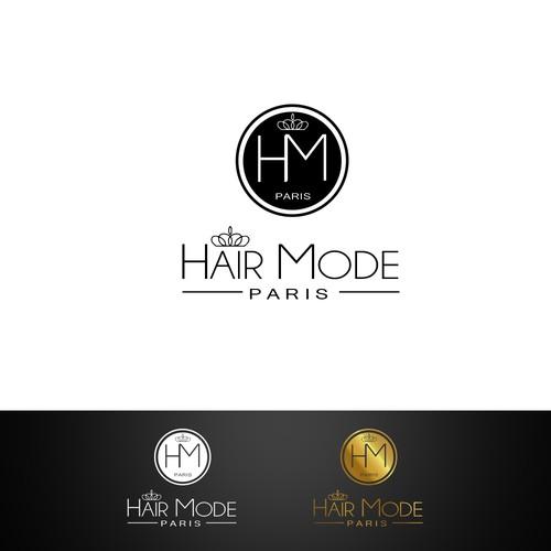 création logo nouvelle marque d'extensions de cheveux haut gamme