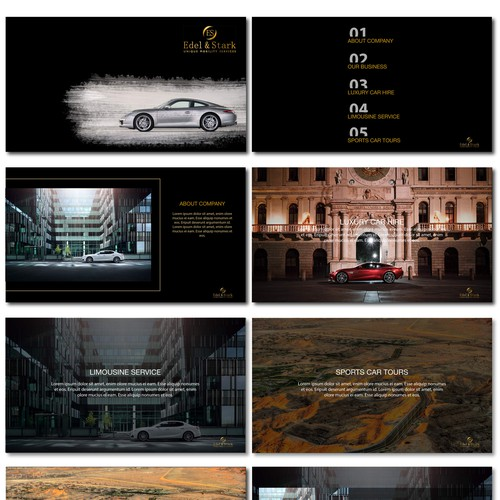 Powerpoint for a Luxury car hire company