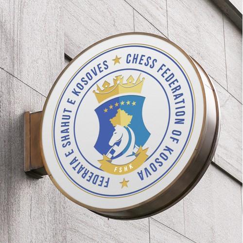 Logo for Chess Federation of Kosovo