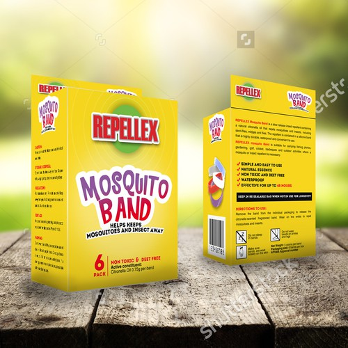 Box packaging for mosquito band