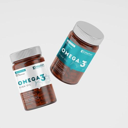 Omega 3 package design