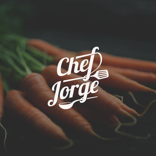 Wordmark logo design for Chef Jorge