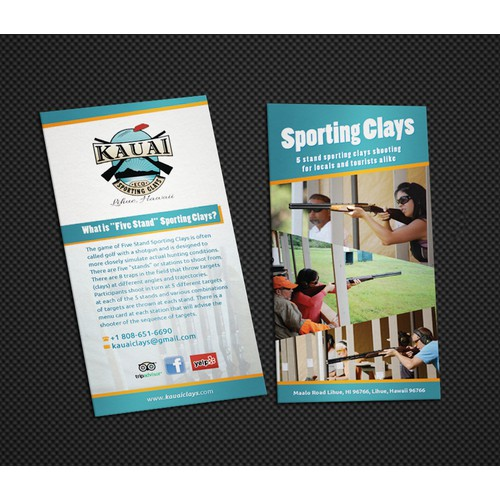 Kauai Eco Sporting Clays needs a new brochure design