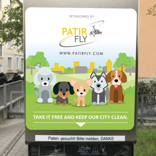 Design a water dispenser sticker for Patir Fly