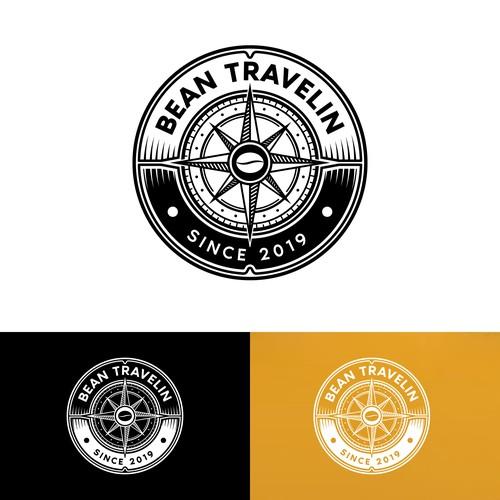 Bean Travelin logo design