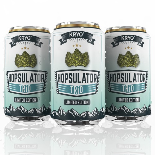 Label design for the beer can HOPSULATOR TRíO