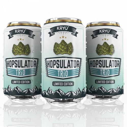 Label design for the beer can HOPSULATOR TRíO