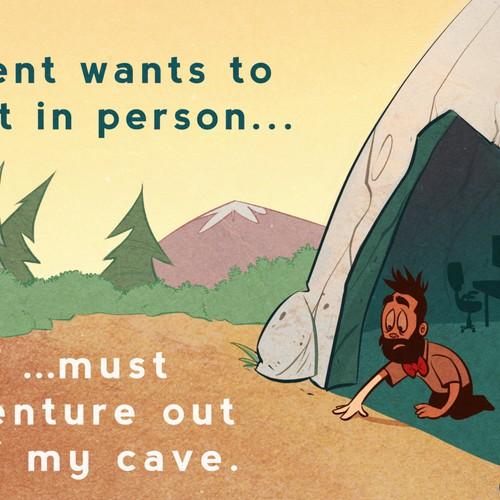 Life of an Entrepreneur Cartoon - Cave