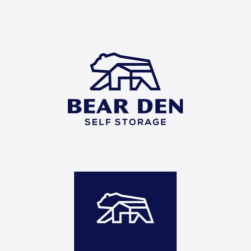 Logo concept for Bear Den Self Storage