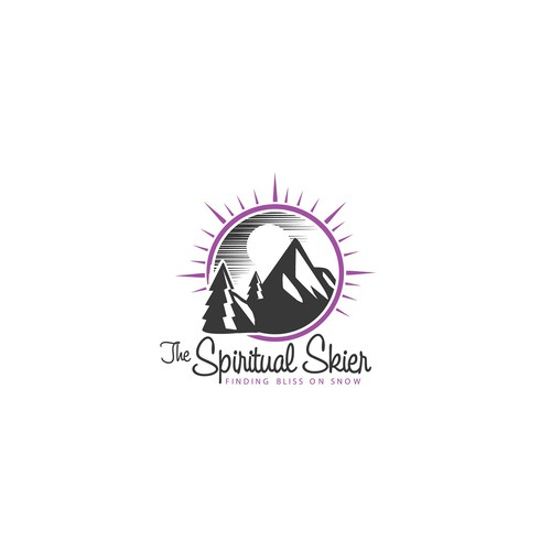 Design a logo that conveys our wild passion for mountains, skiing and yoga.