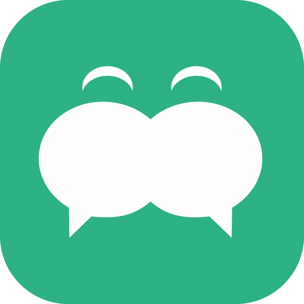 Design an iPhone App Icon for Chitchat, a chatroom app for college students.