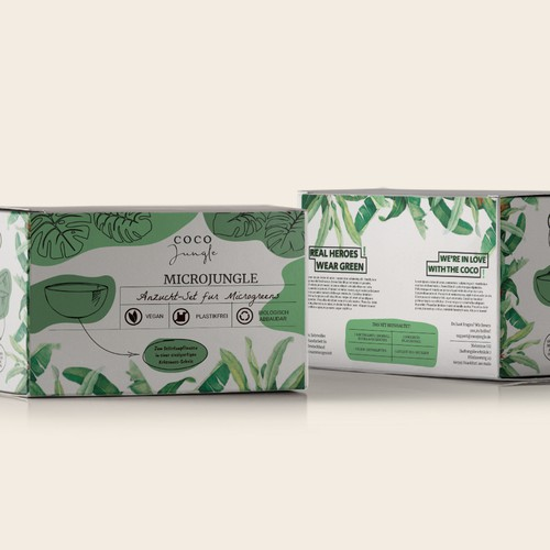 Bold packaging for microgreens