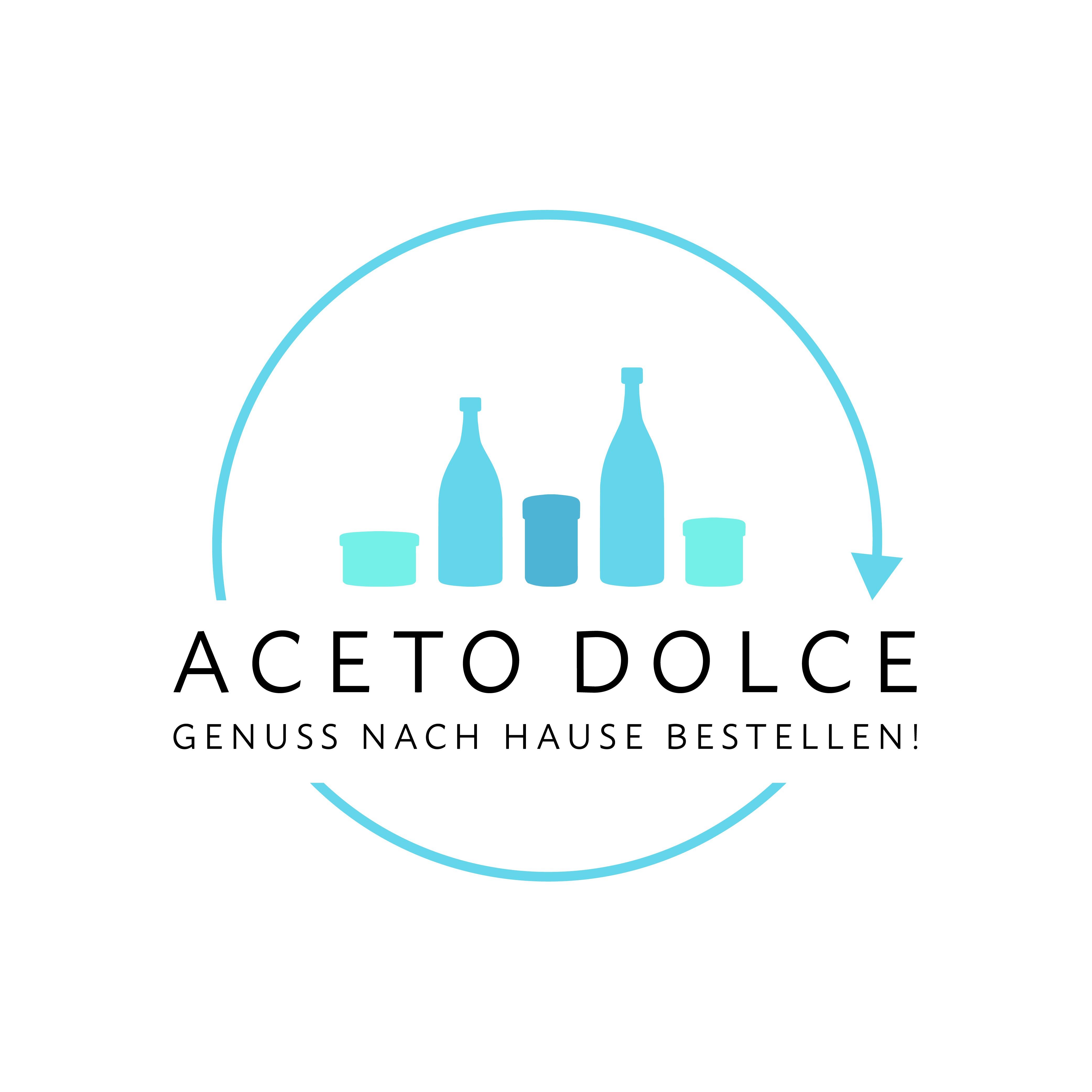 """Erstelle ein Logo für: """"ACETO DOLCE - Genuss nach Hause bestellen!"""""""