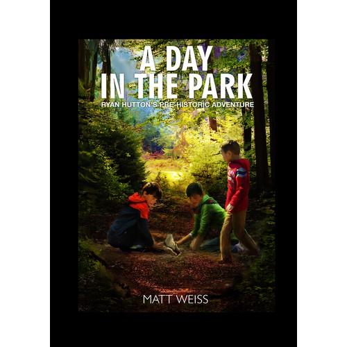 Children book in the park