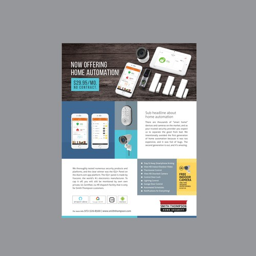 Brochure Design for Home Security Company