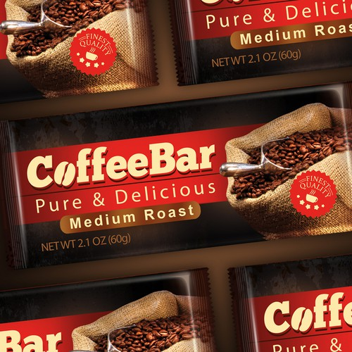 Create a winning logo and package design for a Coffee Energy Bar