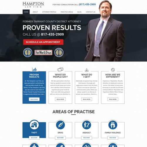 Website for Criminal attorney -- Hampton
