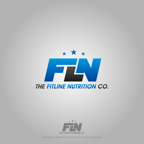 Logo for the fitline nutrition co.