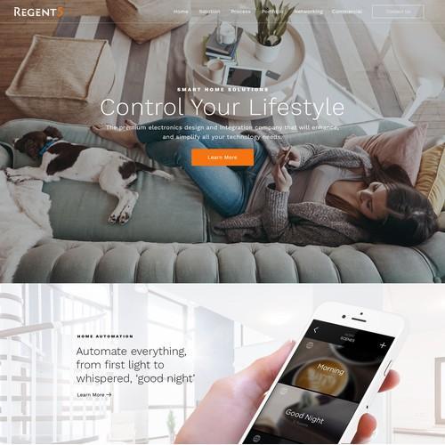 Web design for Smart Home Company