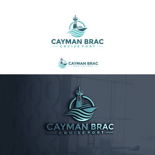 logo concept for CAYMAN BRAC CRUISE PORT