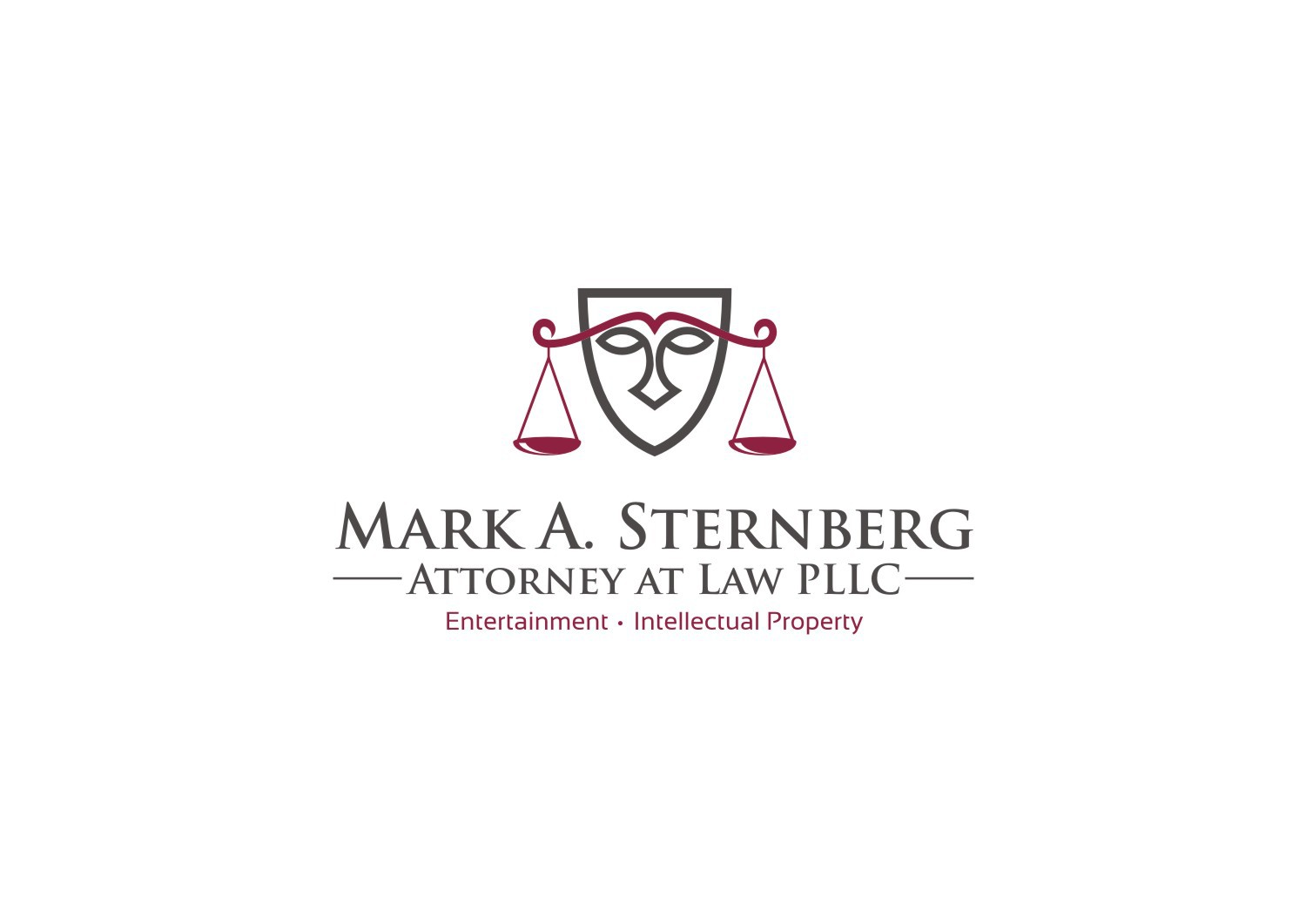 Trendy Logo for Likable Entertainment Lawyer Who Works in the Film, TV, New Media and Book Publishing Industries