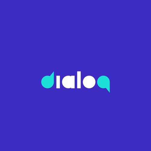 """Dialog"" wordmark design"
