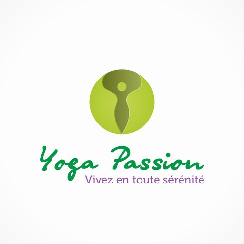 Peaceful pretty logo for a Yoga Business/blog (YogaPassion.fr)