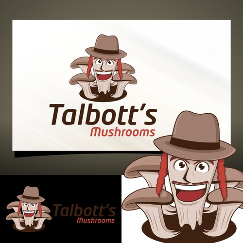 Gourmet Mushroom Business Logo