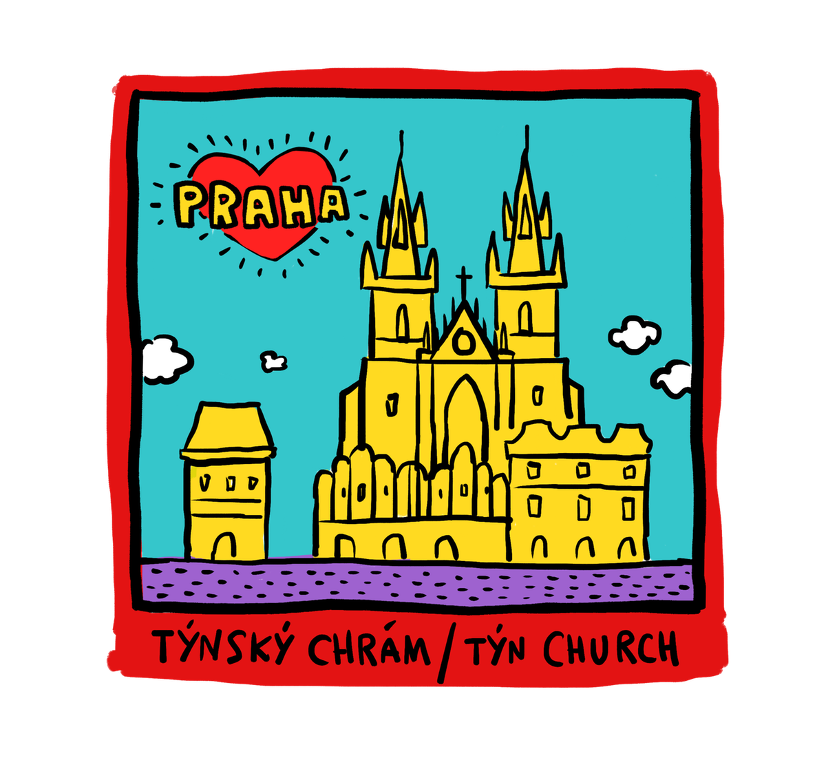 Intresting and fun, Tshirt designs for Praha visitors