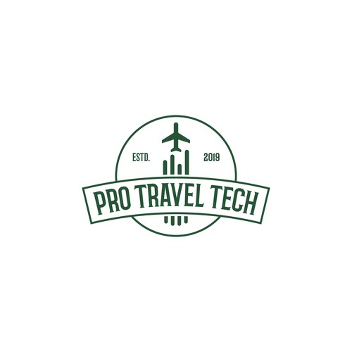 Hipster/Retro Logo for Travel Tech Geeks