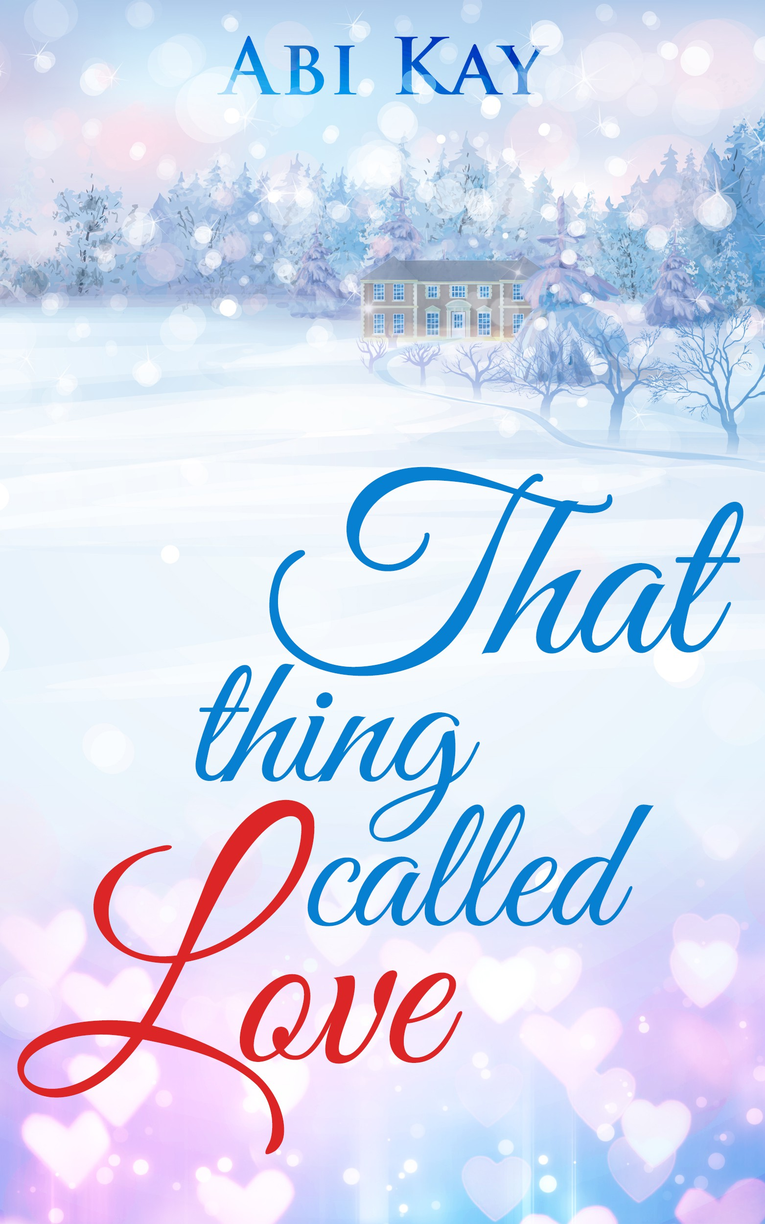 Book cover with a natural snowy scene and a warm Christmas feel