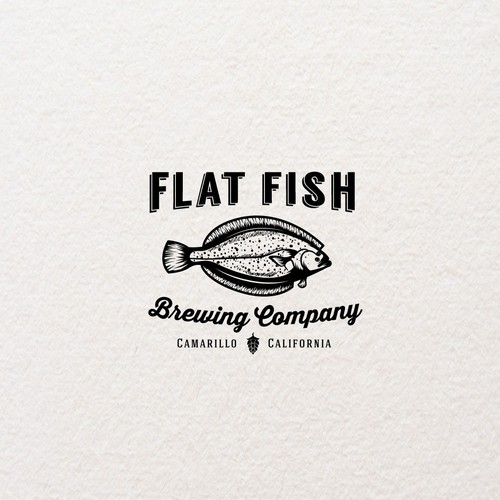 "Logo design for""Flat Fish"""