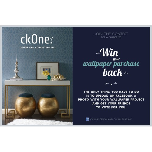 Flyer design for wallpaper contest