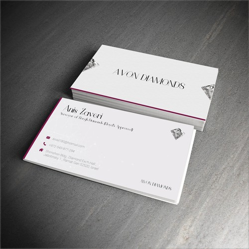 High class business card for diamond consultant