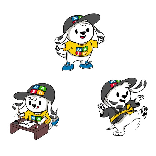 Dog mascot for MASH Learning children education, Version TWO!