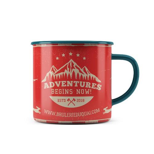 Camping enamel mug