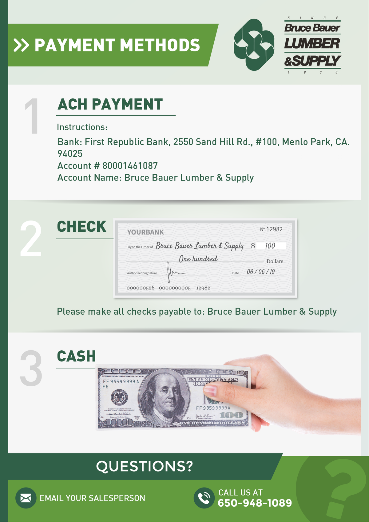 Payment options PDF