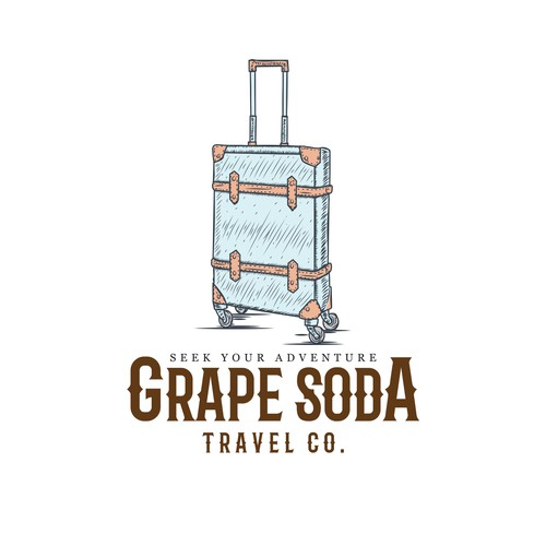 Vintage Travel Logo with a Nod to Disney