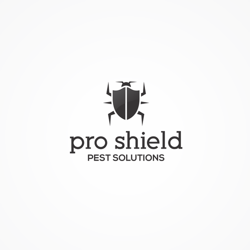 Pro Shield Pest Solution logo design concept