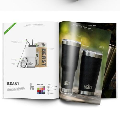 Brochure for Drinkware Company
