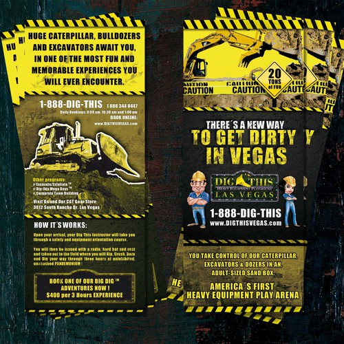 "HEAVY EQUIPMENT PLAYGROUND ""Rack Card"""