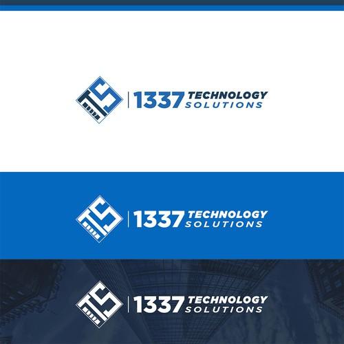 Elegant Logo Design for 1337 Technology Solutions