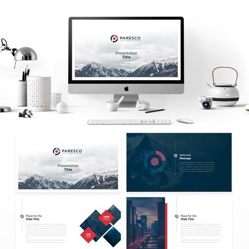 Presentation template for Paresco