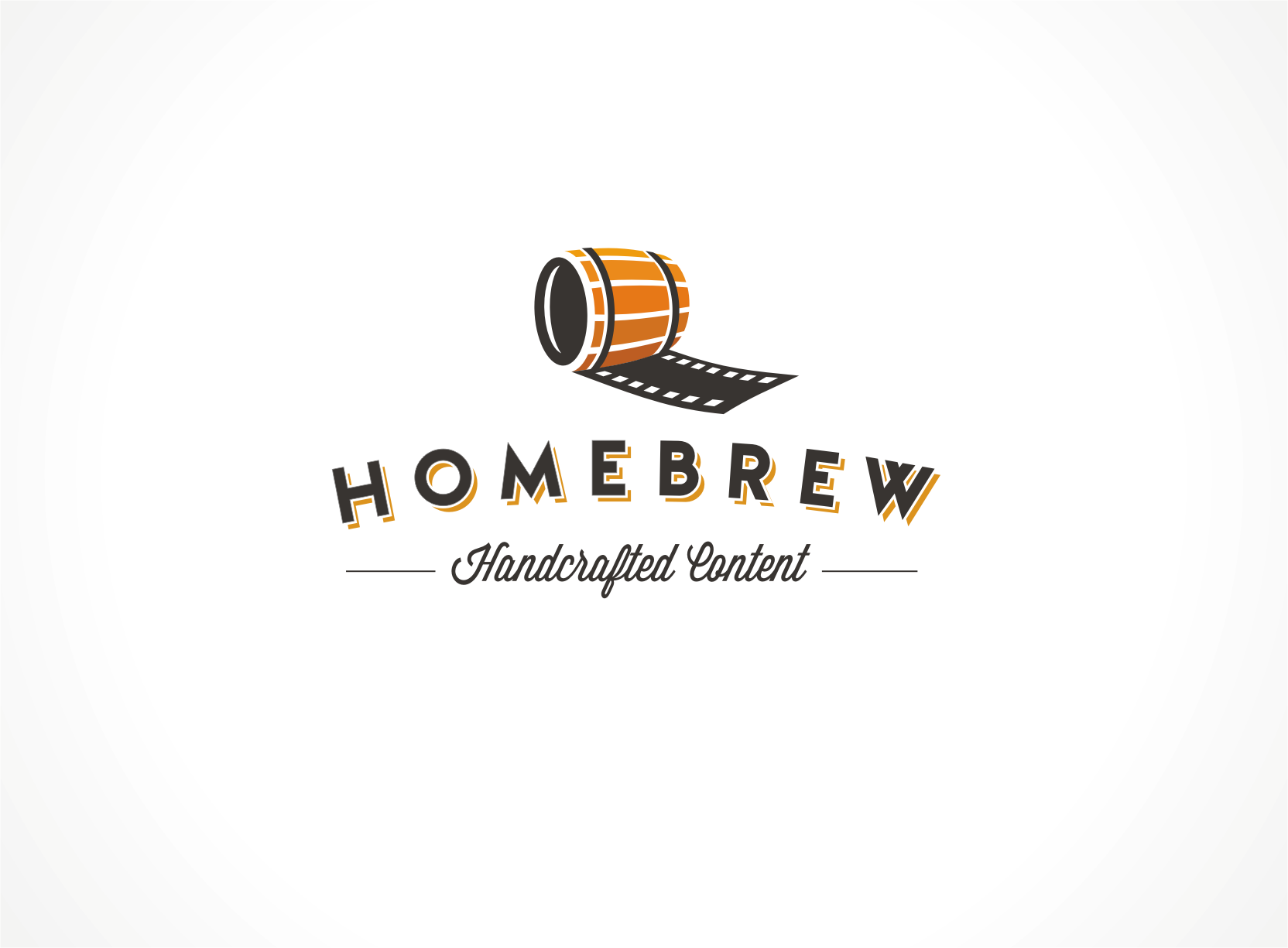 Create a cool logo for an in-house production company, Homebrew
