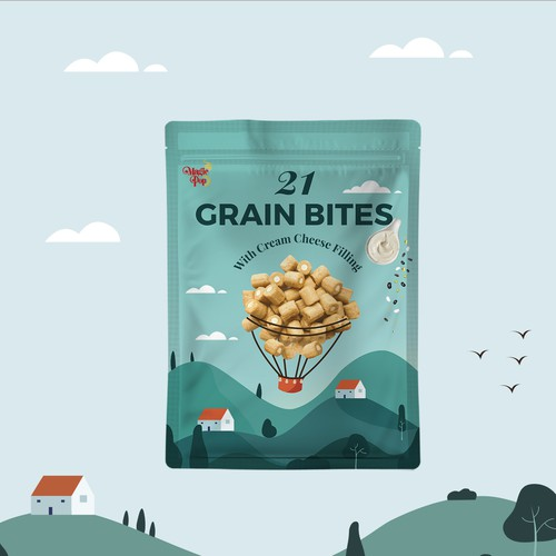 21 Grain Bites Packaging Design