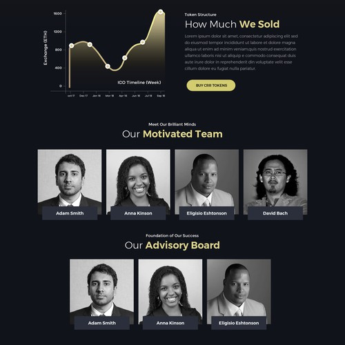 Web design for cryptocurrency company