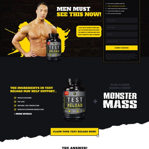 Landing page - body building